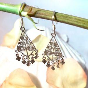 Jewelry - Sterling Silver Filigree Hook Earrings